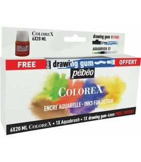 SET OFERTA 6 TINTAS AL ALCOHOL COLOREX 20 ML