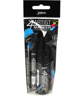 SET DUO 4ARTIST MARKER PEBEO NEGRO 2 Y 8 MM