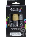SET 4ARTIST MARKER PEBEO 8 MM 3 COLORES METALICOS