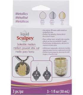 SCULPEY LIQUIDO MULTIPACK METALICOS 3X29ML