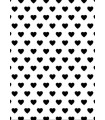 PLACA EMBOSSING COMPATIBLE CORAZONES 18x13 CM