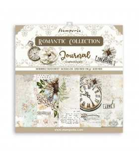 PAPELES SCRAP 10ud 12x12 ROMANTIC JOURNAL