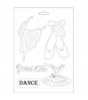 MOLDE FLEXIBLE PVC STAMPERIA 21x29CM PASSION DANCE
