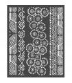 PLANTILLA MIX MEDIA 20x25 CM AMAZONIA TRIBALS
