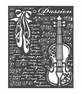 PLANTILLA MIX MEDIA 20x25 CM PASSION VIOLIN