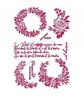 PLANTILLA STAMPERIA 21x29,7 CM GARLANDS LOVE