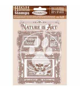 SELLO CAUCHO STAMPERIA NATURE IS ART FRAME14x18 CM