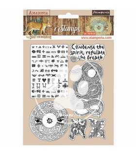 SELLO CAUCHO STAMPERIA AMAZONIA SNAKE 14x18 CM