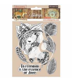 SELLO CAUCHO STAMPERIA AMAZONIA JAGUAR 14x18 CM