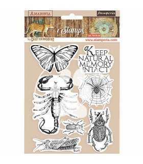 SELLO CAUCHO STAMPERIA AMAZONIA INSECTOS 14x18 CM