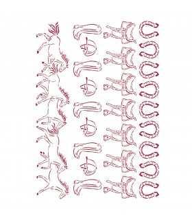 PLANTILLA STAMPERIA 21x29,7 CM ROMANTIC HORSES RUN