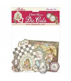 CLEAR DIE CUTS ALICE CHARMS 57 UNIDADES