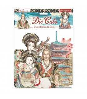 DIE CUTS STAMPERIA SIR VAGABOND IN JAPAN 37UD