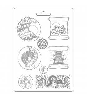 MOLDE FLEXIBLE PVC STAMPERIA 21x29 CM JAPAN PLATES