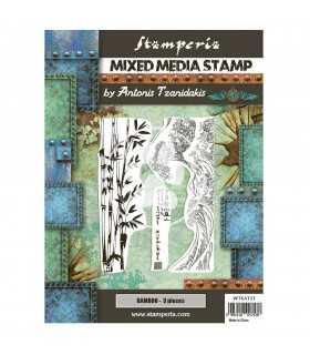 SELLO CAUCHO STAMPERIA JAPAN BAMBOO 15x20 CM