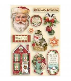 FORMAS COLOREADAS MADERA 21x14CM CLASSIC CHRISTMAS