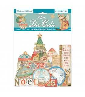CLEAR DIE CUTS CHRISTMAS PATCHWORK 51 UNIDADES