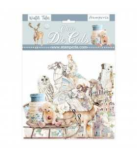 CLEAR DIE CUTS WINTER TALES 40 UNIDADES