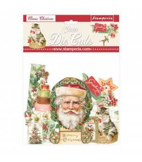 CLEAR DIE CUTS CLASSIC CHRISTMAS 40 UNIDADES