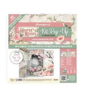 KIT TUNNEL POP UP CARD SCRAPBOOKING HOUSE OF ROSES