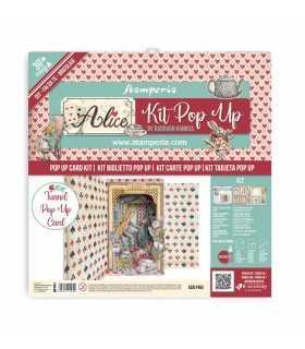 KIT TUNNEL POP UP CARD SCRAPBOOKING ALICE WONDERL