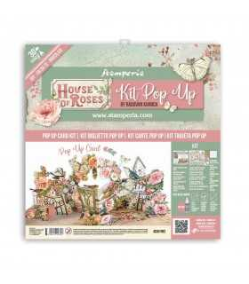 KIT POP UP CARD SCRAPBOOKING HOUSE OF ROSES