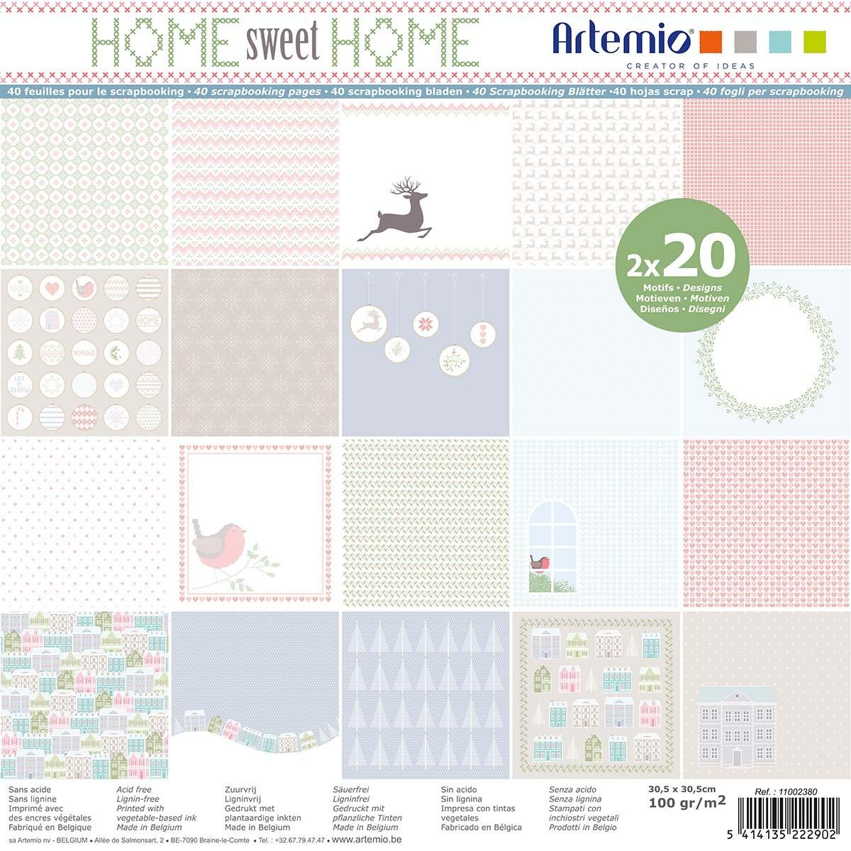 Home Weet Home, colección de Artemio de scrap Navidad.