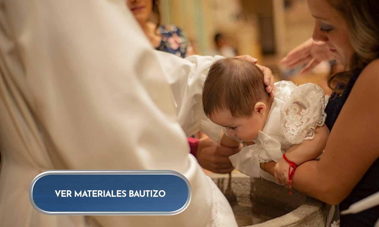 Materiales bautizo.