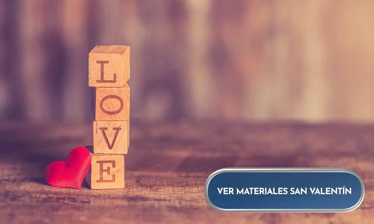 Materiales de manualidadesy scrap  para San Valentín.