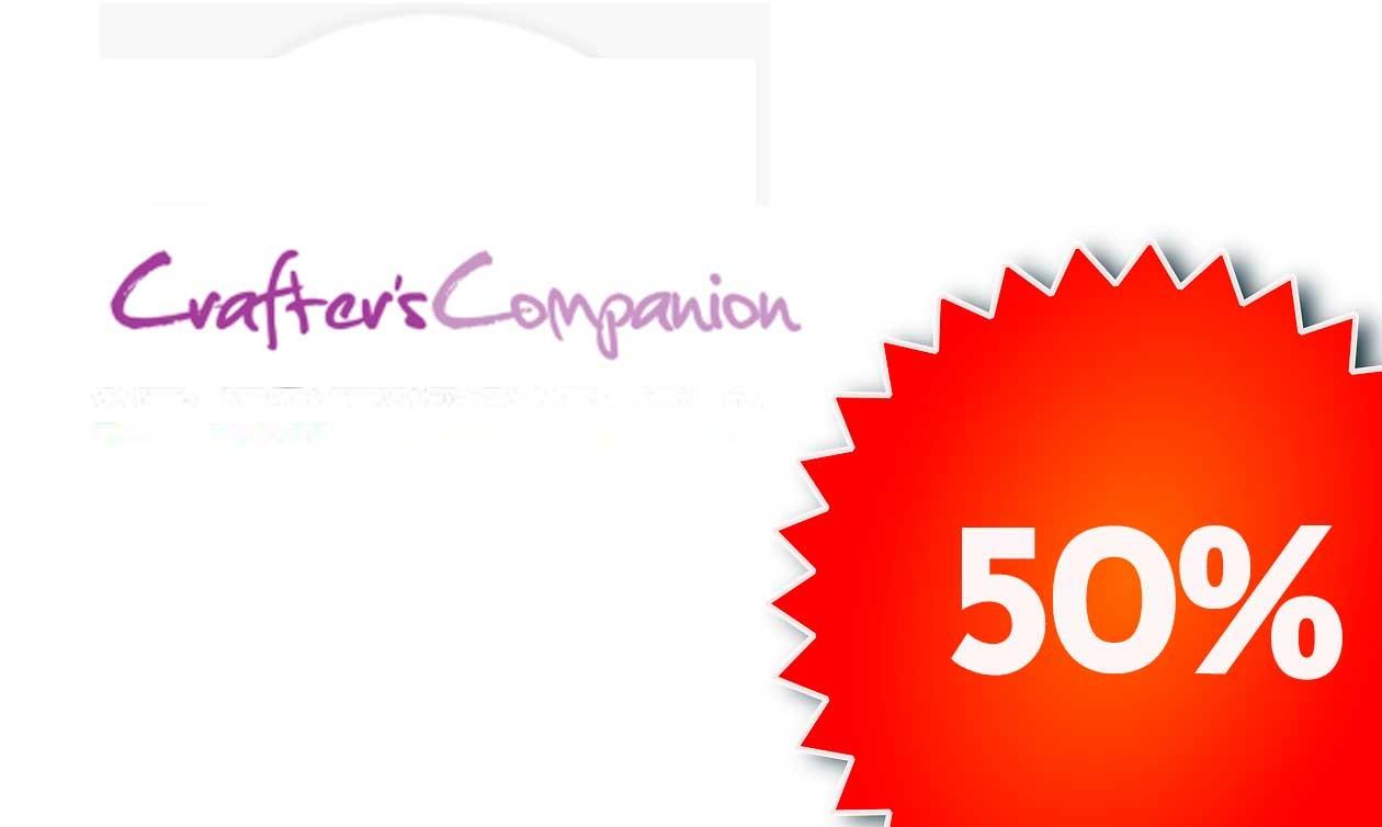 5 marcas al 50% Hasta el 25 de Agosto, Crafters Companion
